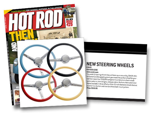 CON2R Steering Wheels showcased in HOT ROD Magazine's June Issue!
