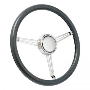 Ghost Grey Banjo Steering Wheel with Blank Horn Button