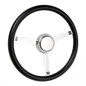 Simply Black Banjo Steering Wheel with Blank Horn Button