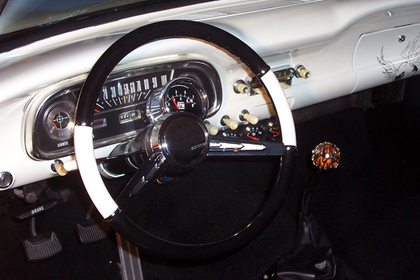 Great Ball of Fire Shift Knob and Steering Wheel Combo