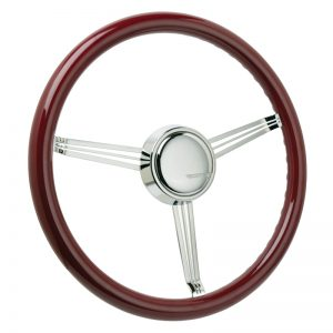 Custom Maroon Banjo Steering Wheel with CON2R Horn Button