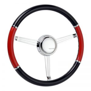 "Simply Black & Risky Red Banjo Steering Wheel with Double ""Y"" Split"