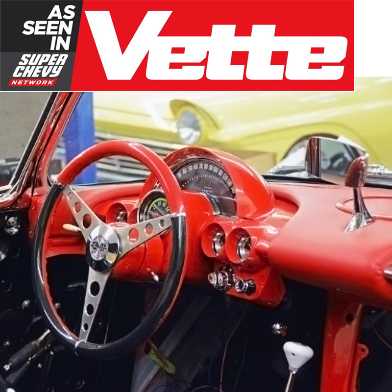See One Of Our C1 Corvette Steering Wheels As Featured in Vette Magazine