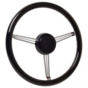 Simply Black Banjo Steering Wheel with Powder Coated Horn Button