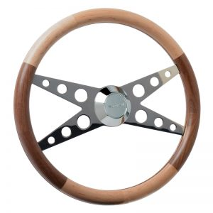 Series Two Deluxe Custom Steering Wheel with Split Wood Grips