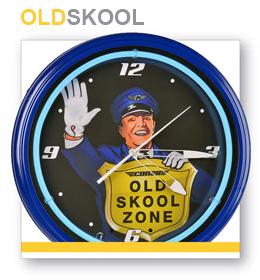 CON2R Old Skool Zone Neon Clock