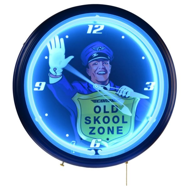 Old Skool Zone Clock - Night