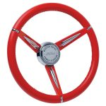 Series One Classic Leather Wrapped Emblem Inlaid Horn Button