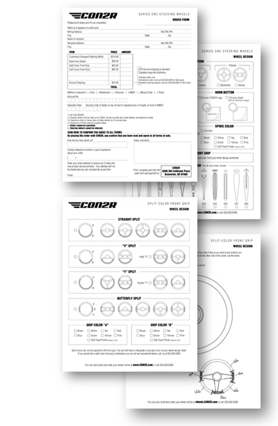 Steering Wheel Order Forms