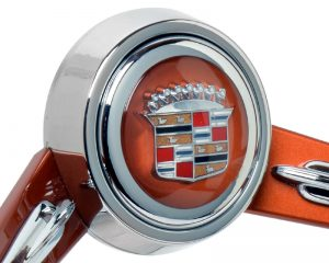 Custom Cadillac Emblem Inlaid Horn Button