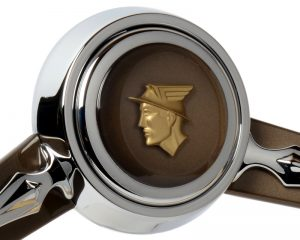 Series One Mercury Emblem Inlaid Horn Button