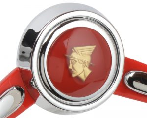Mercury Custom Emblem Inlaid Horn Button