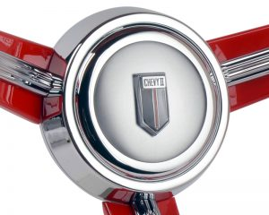 Custom Chevy II Emblem Inlaid Horn Button