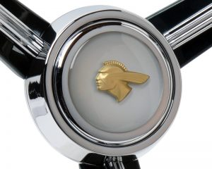 Custom Pontiac Emblem Inlaid Horn Button