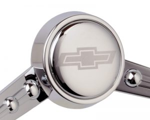Etched Chevy Bowtie Horn Button