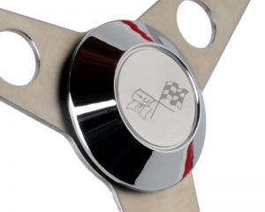 Etched Corvette Flags Horn Button