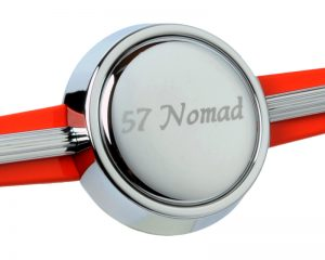 Etched '57 Nomad Horn Button