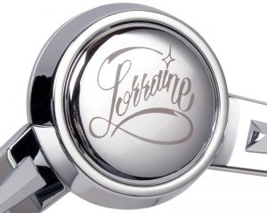 'Lorraine' Custom Script Horn Button Etching