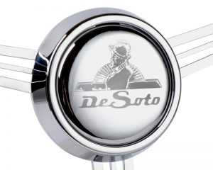 CON2R Etched De Soto Horn Button
