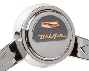 Chevy BelAir Emblem Inlaid Horn Button - Grey