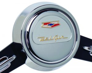 Chevy BelAir Emblem Inlaid Horn Button