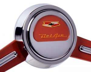 Custom Painted Chevy BelAir Emblem Inlaid Horn Button