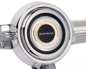 Chevy Chevelle Emblem Inlaid Horn Button