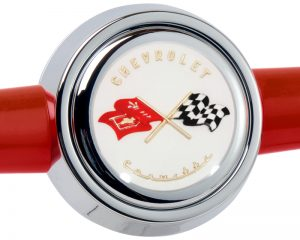 Chevrolet Corvette Emblem Inlaid Horn Button