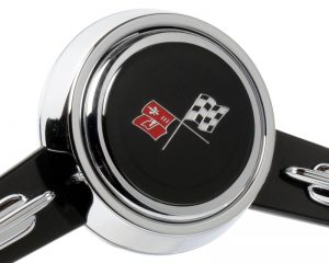 1965-66 Chevy Corvette Emblem Inlaid Horn Button