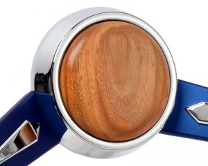 CON2R Canary Wood Horn Button