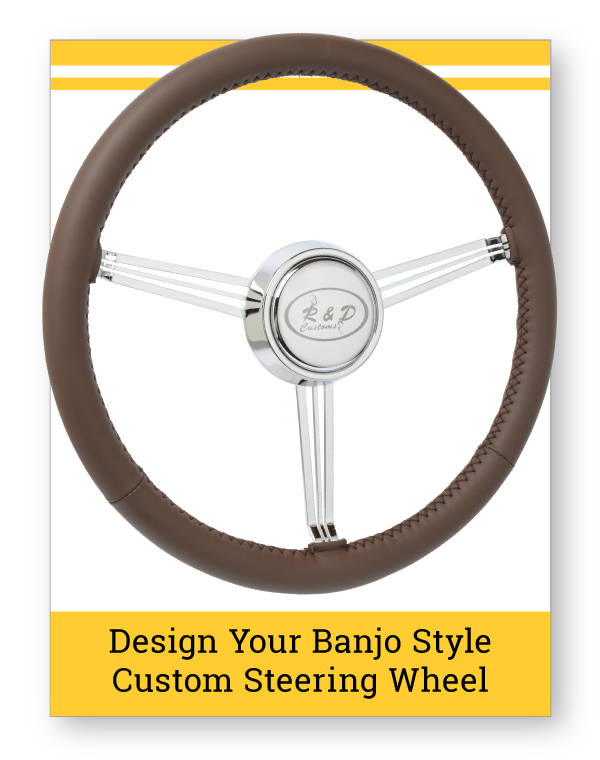 Banjo Style Leather Custom Steering Wheel