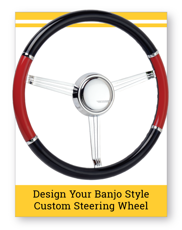 Banjo Style Split Grip Custom Steering Wheel