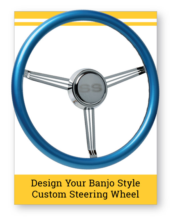 Banjo Style Custom Color Steering Wheel