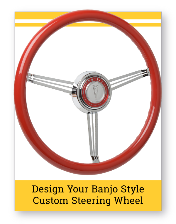 Banjo Style Custom Steering Wheel Emblem Inlaid Horn