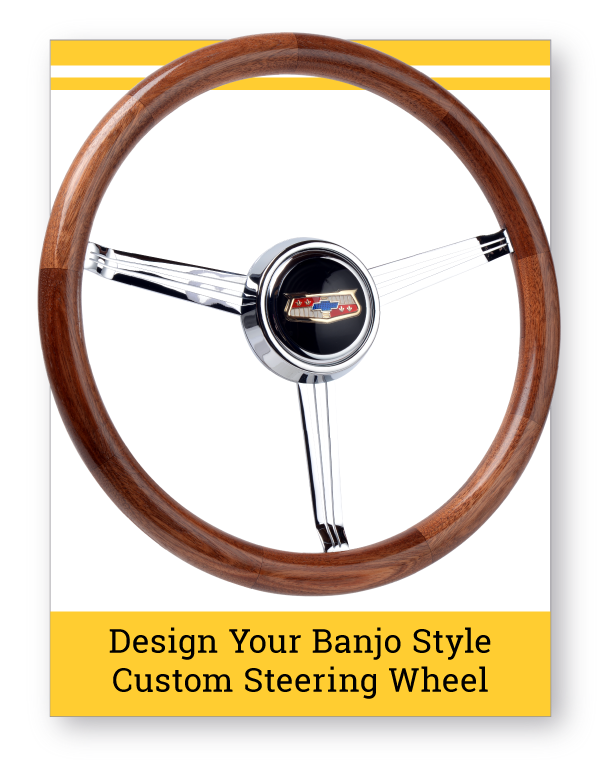 Banjo Style Wood Grip Custom Steering Wheel