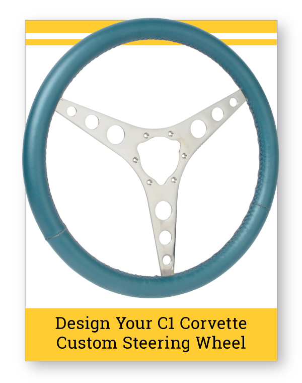 C1 Corvette Leather Grip Custom Steering Wheel