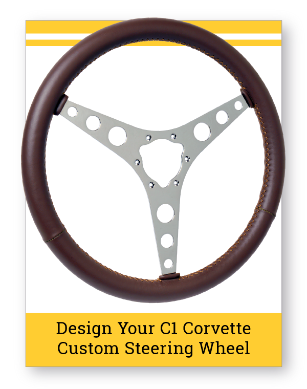 C1 Corvette Custom Leather Steering Wheel